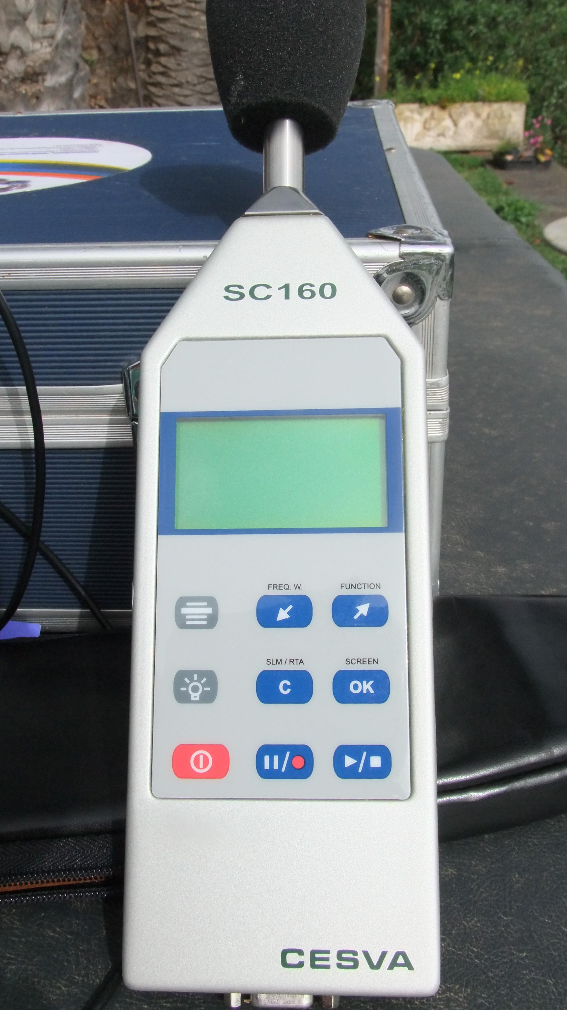 Sonómetro analizador de espectro
