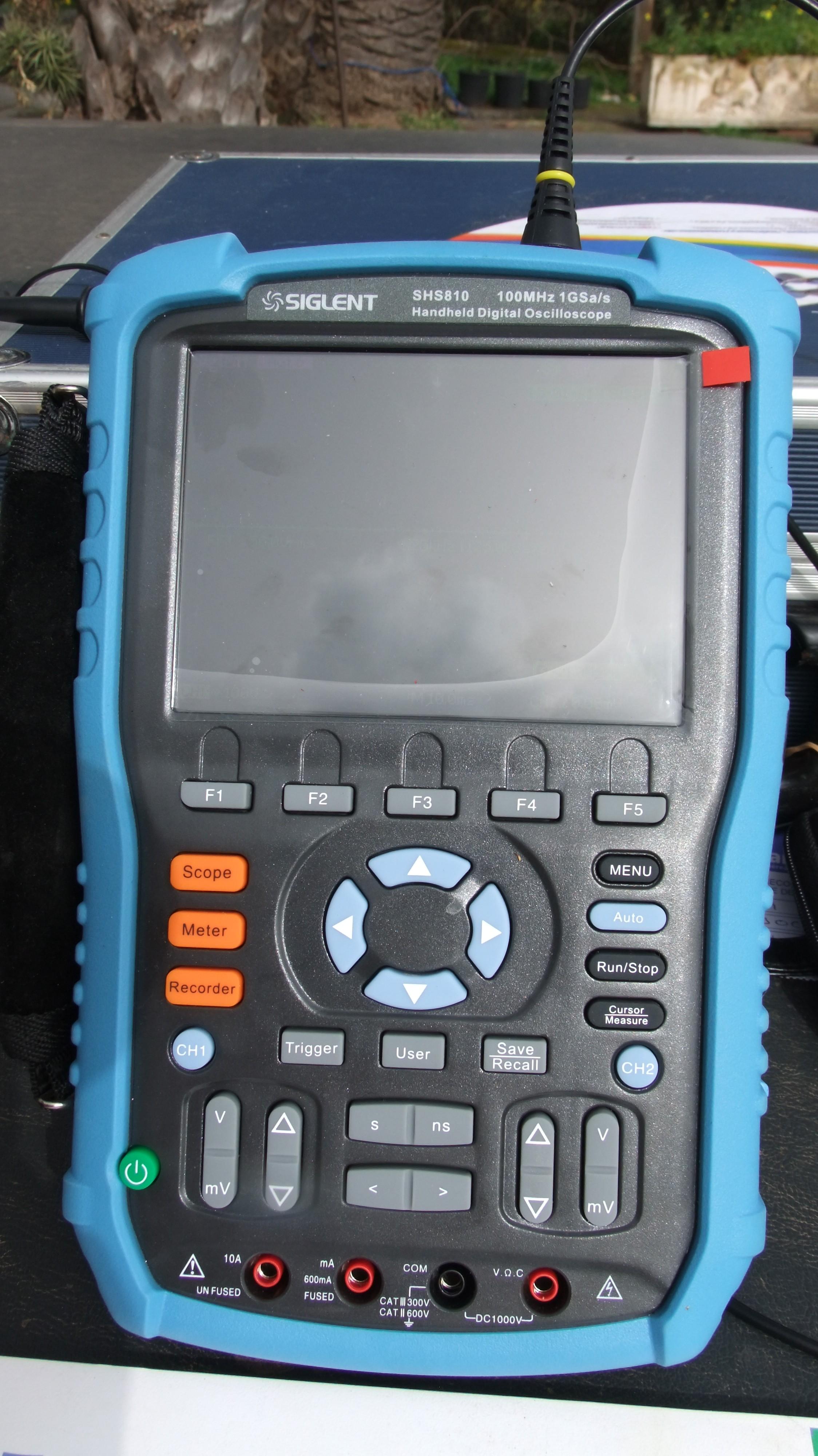 Osciloscopio para detección de dirty electricity