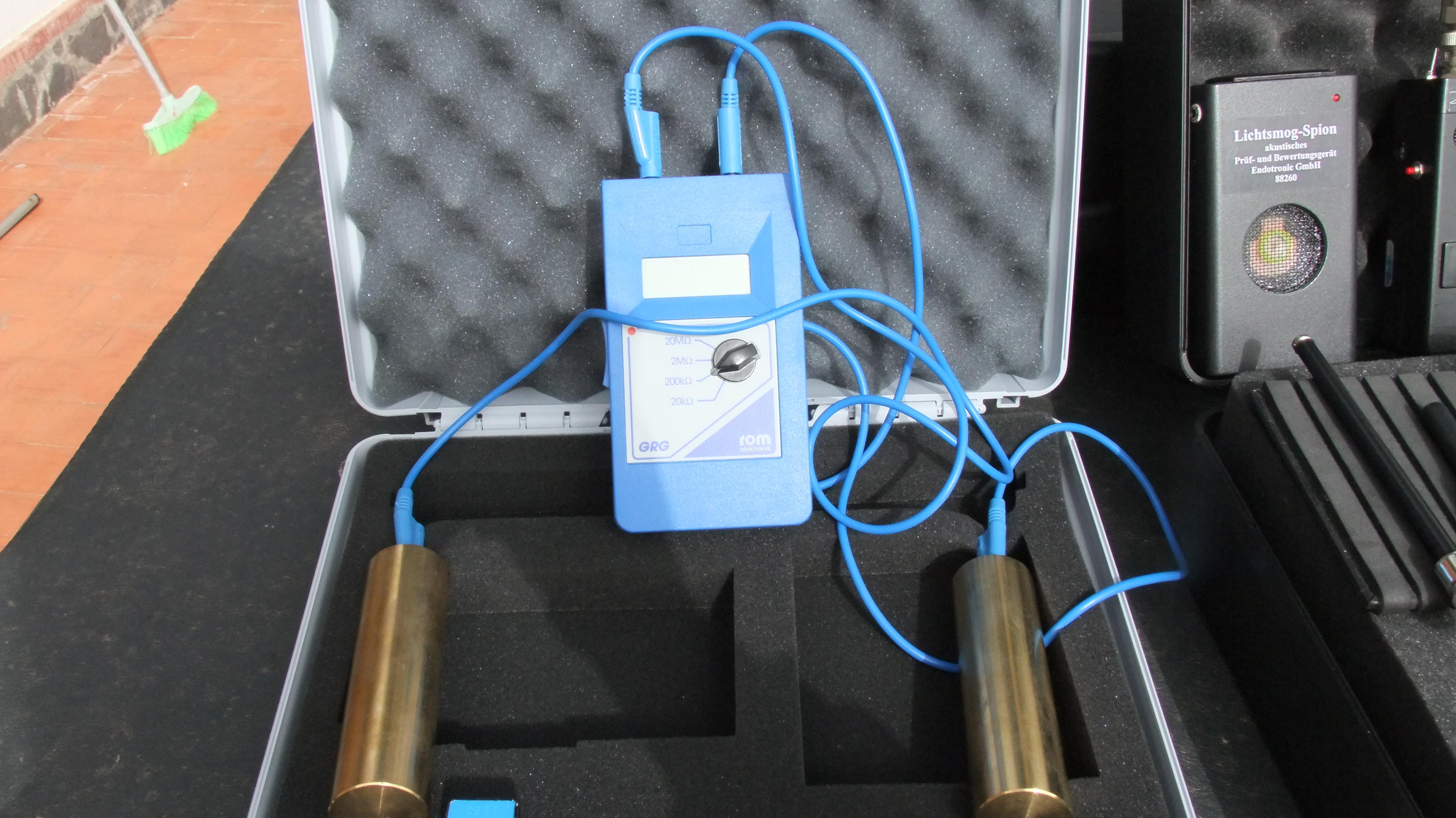 Georritmógrafo para la detección de zonas alteradas geológicamente