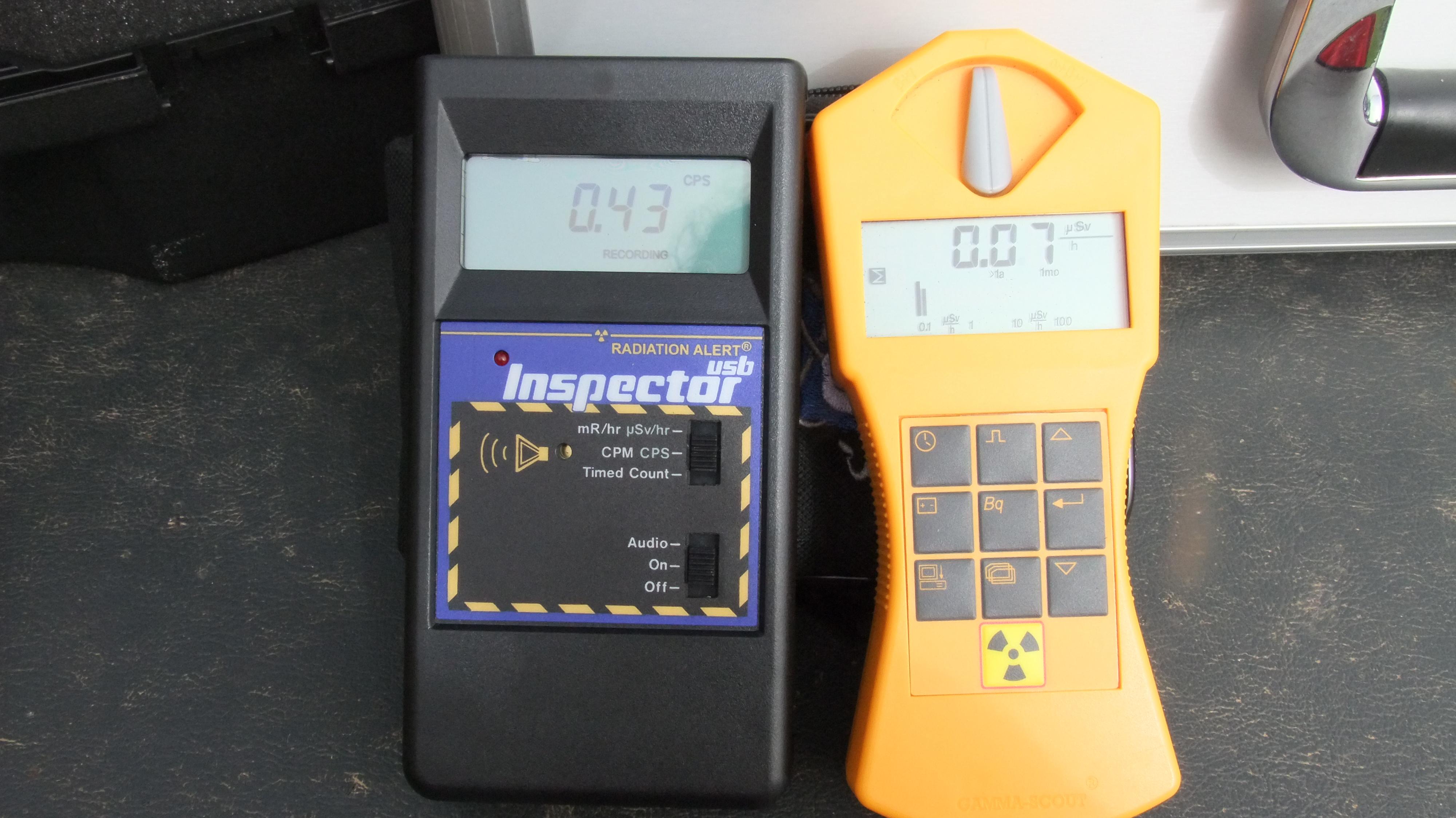 Equipo de detección de radiaciones ionizantes